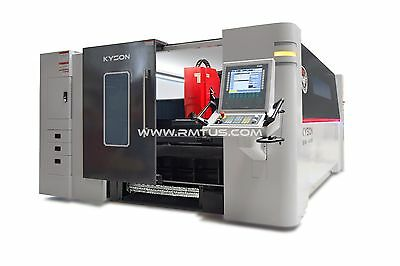 NEW NEW RMT - KYSON FIBER LASER 8' X 26'  DUAL TABLES 4 KW