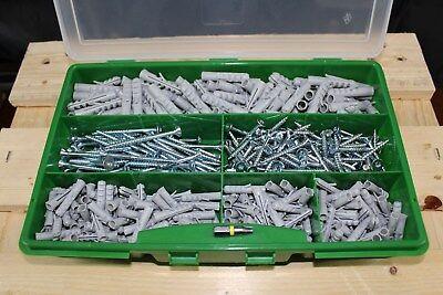 400tlg Fischer Dübel Sortiment im Koffer 6mm + 8mm 250 S-Dübel und 150 Schrauben