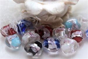 10-Murano-Perlas-12x13mm-Cristal-Corazon-STYLE-Joya-fabricar-Bricolaje
