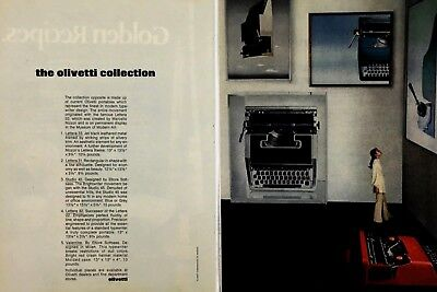 1970 The Olivetti Collection Typewriters Lettera 33 31 32 Valentine Print Ad for sale  Shipping to Canada