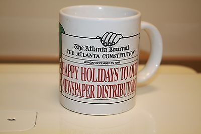 1989 Atlanta Journal Constitution Holiday Appreciation Coffee Mug News B12