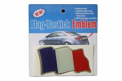 France Country Flag (FRANCE COUNTRY  FLAG BUMPER STICKER FLAG-TASTICK EMBLEM..SIZE: 3.5 X 2 INCH )