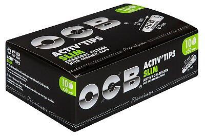 "OCB "" Activ'Tips Slim "" 10 x 50 Aktivkohle Filter 7mm | Drehfilter Joint Tips"