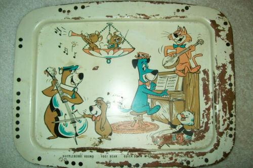 Vintage 1959 Huck & Yogi Metal Lap Tray with Mr. Jinks, Pixie & Dixie, Boo Boo