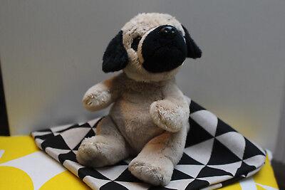 Stofftier Hund Mops sitzend ca. 17 cm Kuscheltier ()