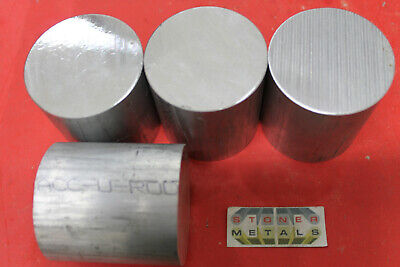 4 Pieces 2-38 Aluminum Round Rod 2-12 Long 6061 T6 Solid Lathe Bar Stock