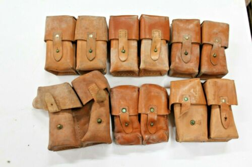 1 Yugoslavian SKS Leather Dual Cell Ammo Pouch Good #PAL13