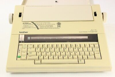 Brother Ax-15 Electronic Portable Typewriter Hard Protective Cover Vintage