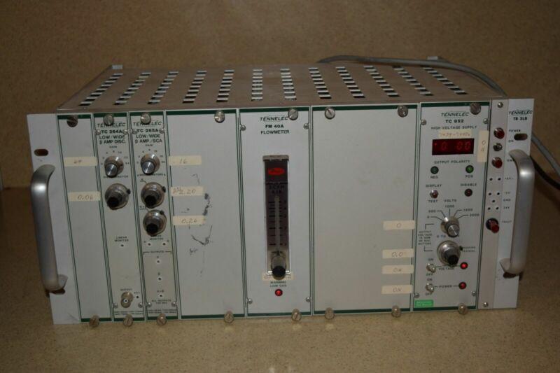 TENNELEC TB 3LB NIM BIN CHASSIS- TC 952 HV - FM 40A FLOWMETER - TC 264A 265A