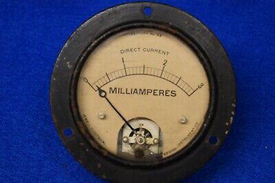 Jewell Dc Milli-amp Panel Meter Working