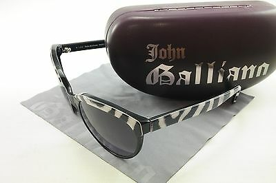 Authentic John Galliano New Sunglasses Frame JG07 99B Acetate Black White Italy