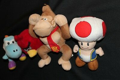 Super Mario Donkey Kong Toad Yoshi Nintendo Stuffed Plush   Red Anger Bird Lot