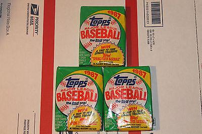 1987 Topps Baseball Packs!! Vintage unopened Lot.