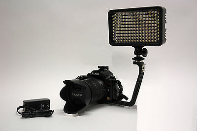 Pro 4k 2 Led Video Light With Ac Power Adapter For Canon ...