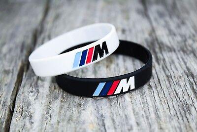 (m power bimmer silicone wristband bracelet rwd drift cars e46 e90 e60 e30 x5 x3)