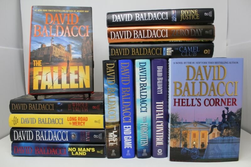 Lot of 5 David Baldacci Thriller Hardcover Books MIX