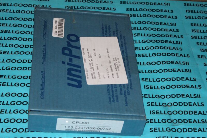 Gebr Heller Gmbh Uni-pro 123.020185x-00792 Cpu90 Cnc Central Processor Unit New