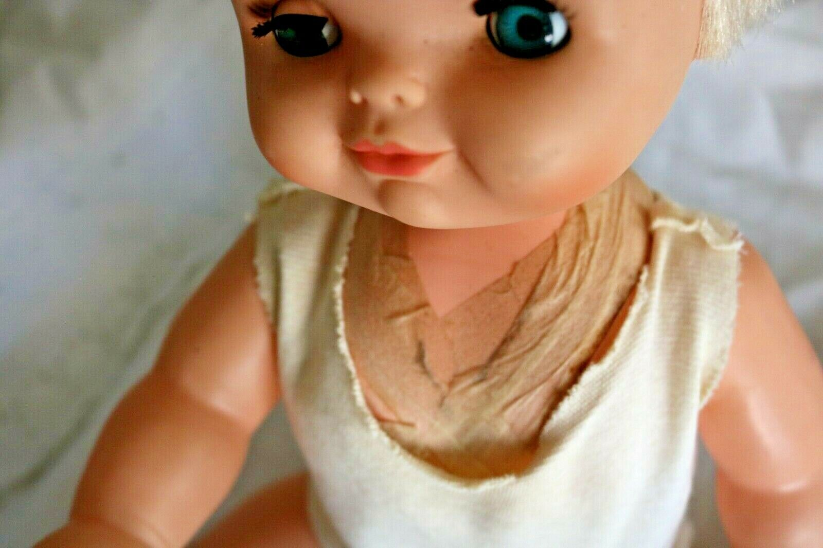 RARE 19 Vintage Girl Doll Arms And Legs Move Dated 1967 Old Collectible  - $12.85