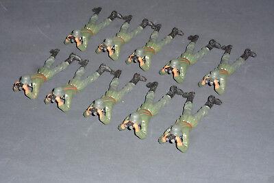 10 x Elastolin Wehrmacht Soldat liegend mit Fernglas 7cm Serie