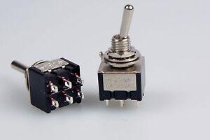 10 Stück Miniatur - Kipptaster 2-polig Schliesser / Schliesser 230V~3A  7087