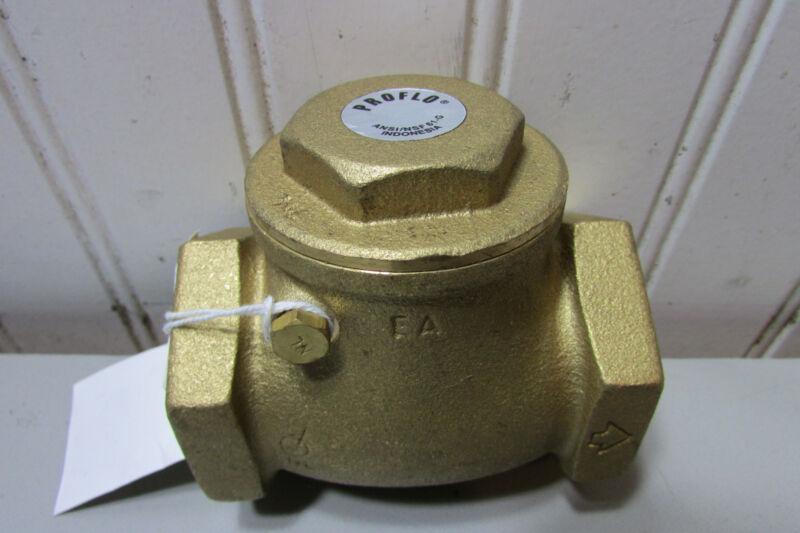 Proflo PFX31J Brass Check Valve 1-1/2