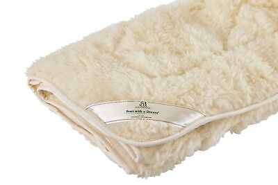 Dual Wool Cotton Reversible Mattress Pad Bed Topper Natural Washable Eco