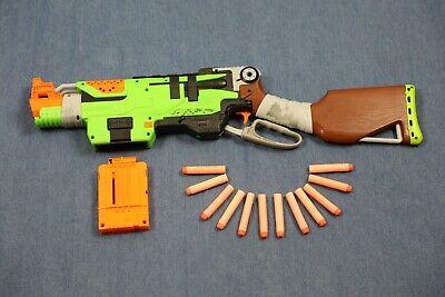 Nerf Zombie Strike SlingFire Blaster Used with ammo