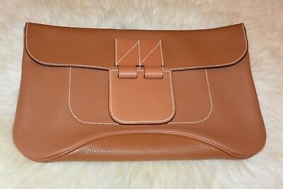 NIB HERMES Virevolte Clutch in Brown, bigger than jige AUTHENTIC  for sale  New York