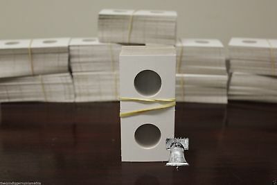 100 2x2 Standing Liberty Quarter Mylar Cardboard Coin Holder Flips Guardhouse
