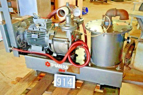 Travaini pumps model EV0 - 10M MFG 2008 7.5 KW Air cooled vacuum pump  EVO - 10M