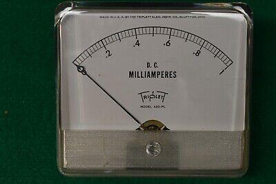 Triplett Dc Micro-amp Panel Meter Model 420-pl Nos Nib Working Condition
