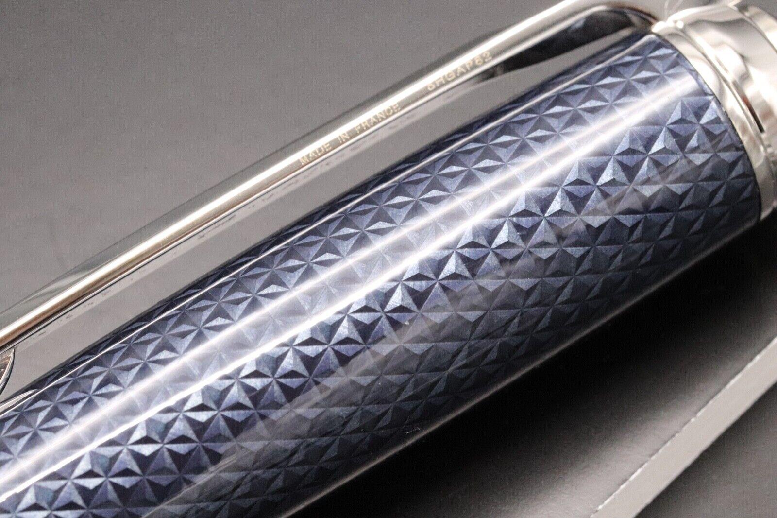 S.T. Dupont Fire Head Medium Blue Guilloche Ballpoint Pen 3
