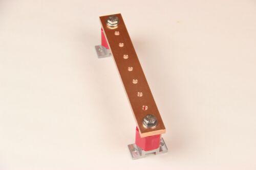 "1/4"" x 7"" Ground Busbar / Bus Bar / Power Distribution Bar / Solar Power"