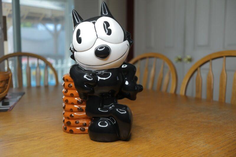 1998 Treasure Craft Felix The Cat Ceramic Cookie Jar Limited Ed #715/ 1000