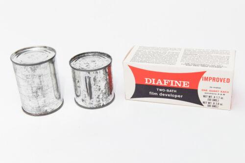 Vintage NOS Diafine Improved Two-Bath Film Developer To Make 1 Quart