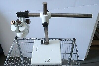 Olympus Sz3 Stereo Zoom Microscope With Boom Stand 20x Eyepieces