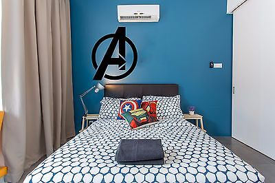 Avengers Logo Marvel Wall Sticker,Decals, Home decor, Art Deco, Kid Headboard ()