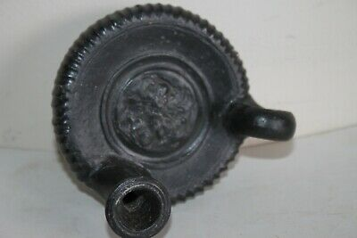 ANCIENT GREEK POTTERY GUTTUS OIL LAMP FILLER FLASK 4th century BC