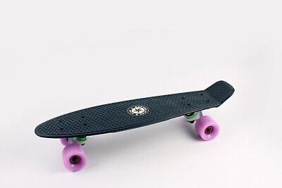 "22"" Skateboard [DARK GREEN/PURPLE] Penny Style Cruiser Board. ABEC-9 Bearing."