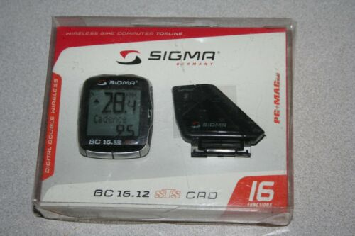 Sigma BC 16.12 STS CAD Digital Double Wireless Bicycle Computer 06131 NEW