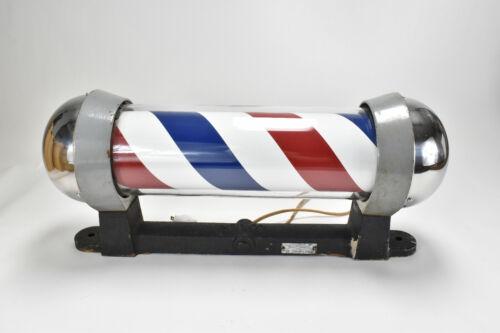 Vintage KOKEN Barber Pole-Model 5162-Turns and Lights Up- Restored