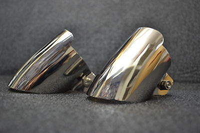 Chrome Auspuffblende Doppelrohranlage, Mercedes W123, W124, W201, w116 w126