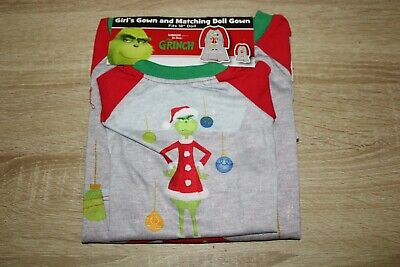 Dr. Seuss' The Grinch Size 6 Girl's Nightgown & Matching Doll Gown