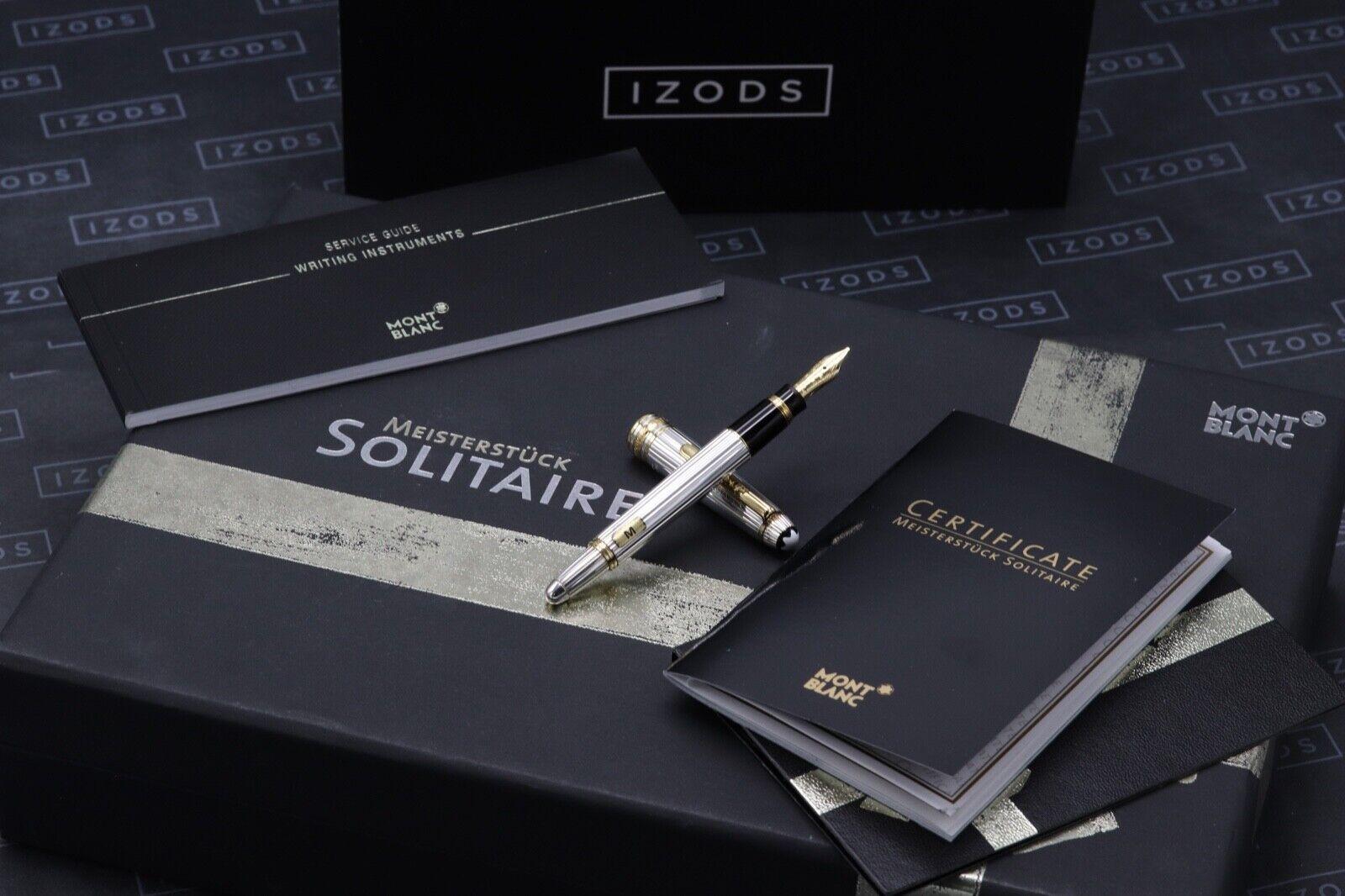 Montblanc Meisterstuck 114 Mozart AG925 Solitaire Pinstripe Fountain Pen