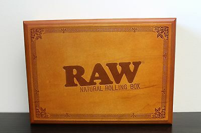 Large Raw Rolling Stash Box W Tray Stores Everything You Have Amazing Wood Box