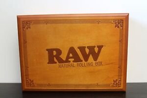 Large Raw Rolling Stash Box w Tray~Stores Everything You have~Amazing Wood Box