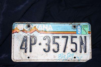2000 Montana License Plate # 4P 3575