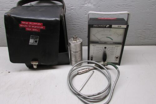 Reliance 638 Vibration Meter W/ Reliance Model 4-028 Pick up Transducer