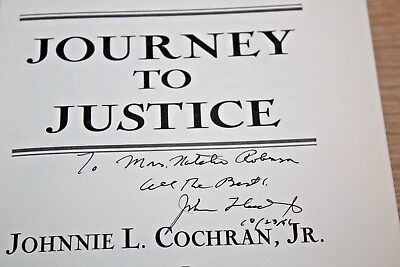 Journey To Justice Signed By Johnnie Cochran  O J  Simpson Trial  Dream Team
