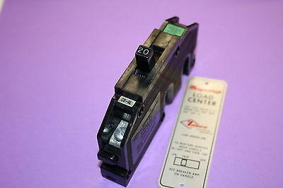 Zinsco 20 Amp 1-pole Type Q Breaker Nice